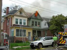 A side of the Dwelling fire on the 3rd floor