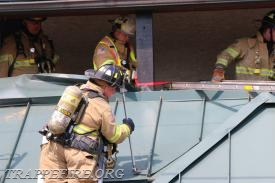 FF Callahan opening up the roof.