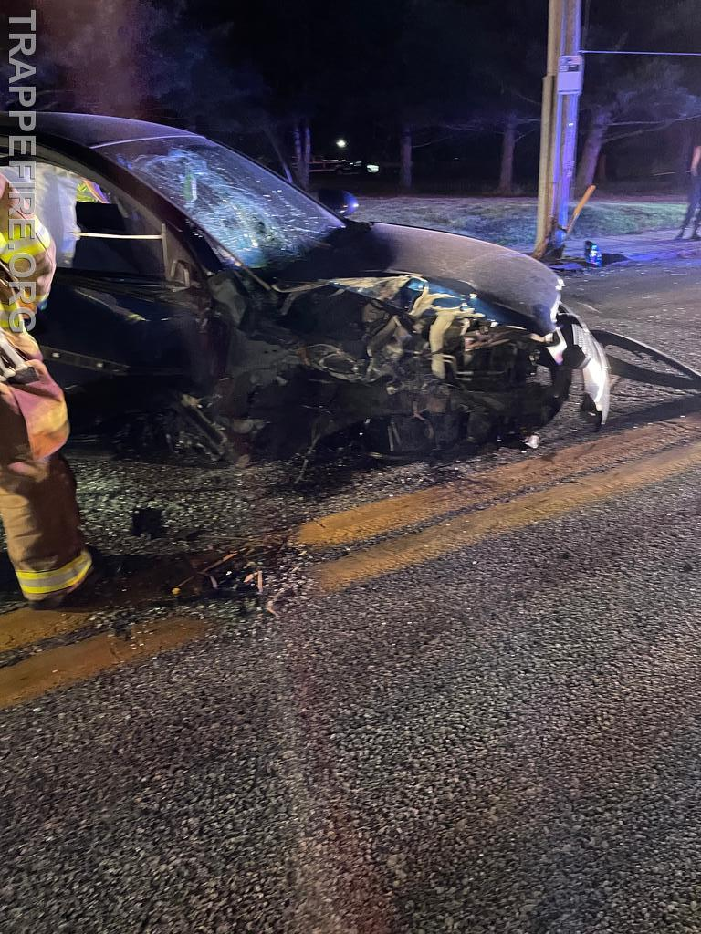 Crash on West Main Street in Trappe Borough